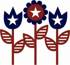 4th of july flower clipart svg transparent library Free Patriotic Flower Cliparts, Download Free Clip Art, Free Clip ... svg transparent library