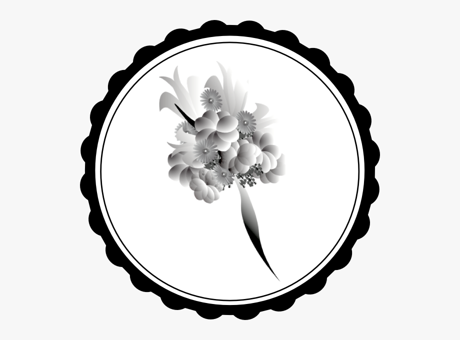4th of july flower clipart picture royalty free download Flower Bouquet Clipart Black And White - Happy Fourth Of July ... picture royalty free download