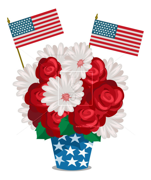 4th of july flower clipart clip art library library July 4th Flowers | Free vectors, illustrations, graphics, clipart, PNG ... clip art library library