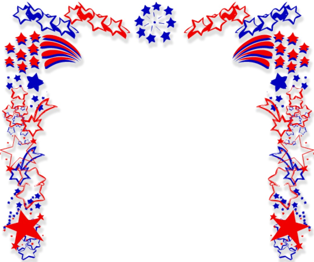 th july fireworks. Free clipart border images of flag for labor day