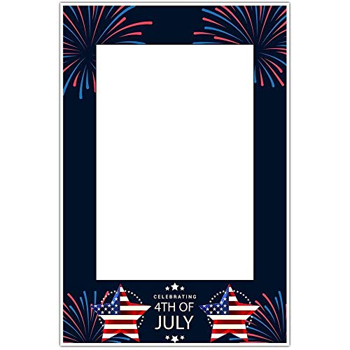 4th of july frame clipart clip freeuse library Amazon.com: Celebrating Fireworks Patriotic Happy 4th of July Party ... clip freeuse library