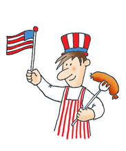 4th of july grill clipart graphic 4th of July Clipart graphic