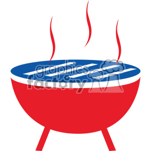 Bbq icon clipart image download 4th of july bbq grill vector icon clipart. Royalty-free clipart # 403816 image download