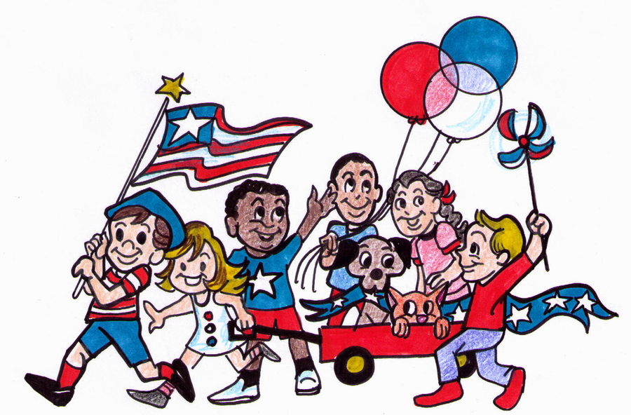 4th of july parade clipart clipart black and white download Download cartoon 4th of july parade clipart Independence Day Parade ... clipart black and white download