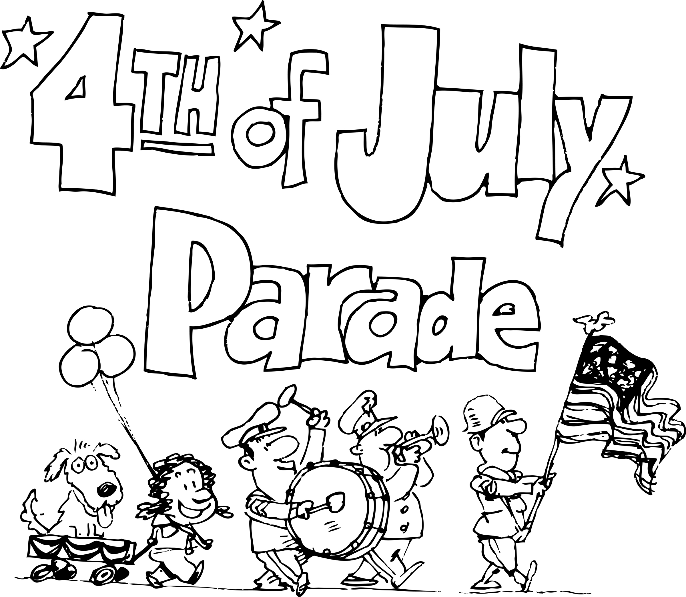 4th of july parade clipart svg black and white stock 4th Of July Parade Clip Art | Clipart Panda - Free Clipart Images svg black and white stock