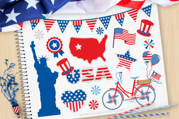 4th of july parade clipart transparent stock 4th of July Parade Clipart Graphic by MyClipArtStore - Creative Fabrica transparent stock