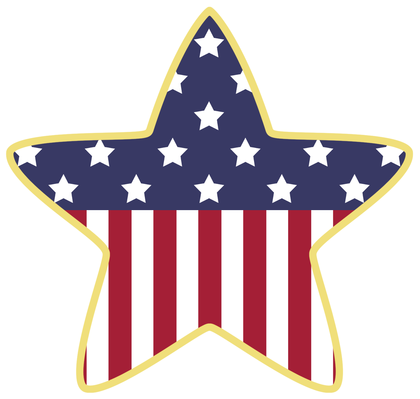 American Star Decoration PNG Clipart | July 4th Clip Art | Pinterest ... image library library