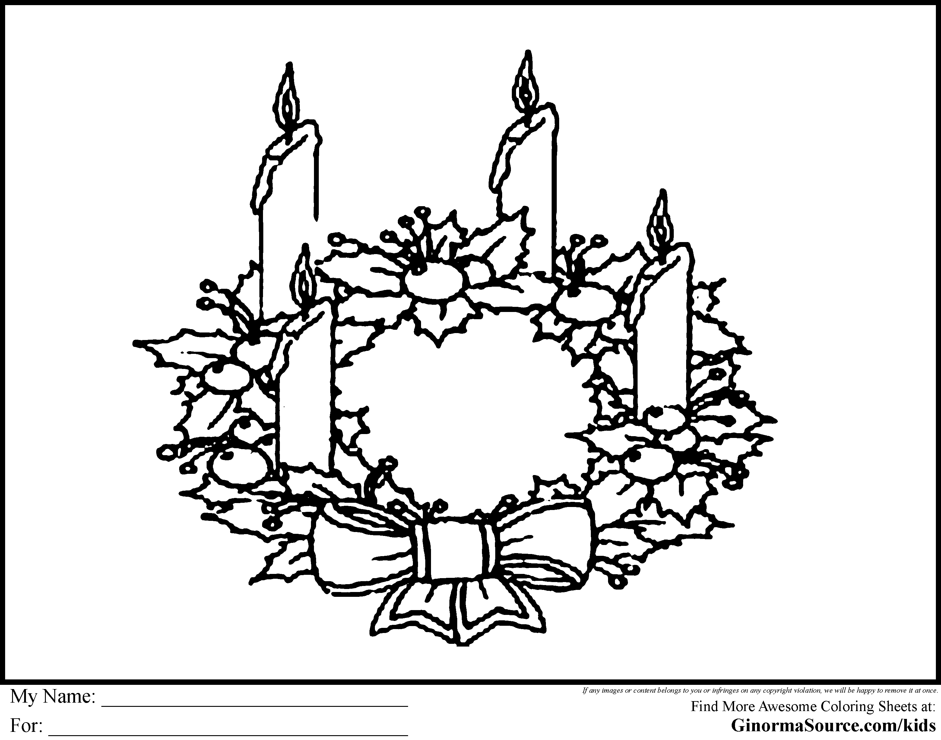 4th week of advent clipart black & white banner download Free Advent Wreath Cliparts, Download Free Clip Art, Free Clip Art ... banner download