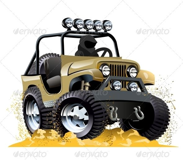 4x4 car transfer unit clipart svg download Cartoon Jeep | Buses, Adobe and Train illustration svg download