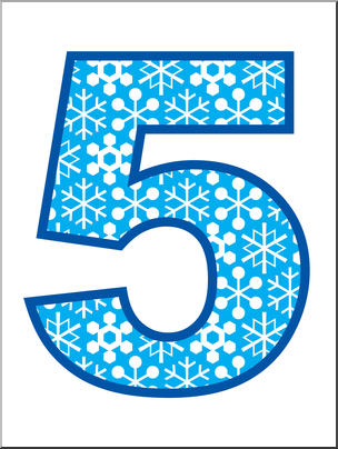 5 5 clipart royalty free library Clip Art: Number Set 5: Snowflakes 05 Color I abcteach.com | abcteach royalty free library