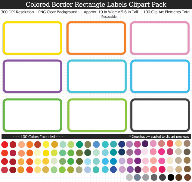 5 6 rectangle clipart