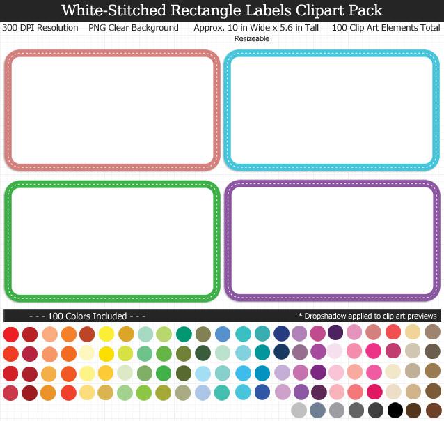 5 6 rectangle clipart image transparent stock Rectangle Labels Clipart Pack image transparent stock