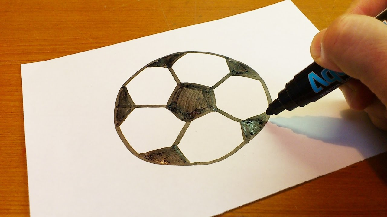 Hw to draw a soccer ball clipart vector library download Very Easy ! How To Draw A Soccer Ball Art Hub Art fo - art on paper for kids vector library download