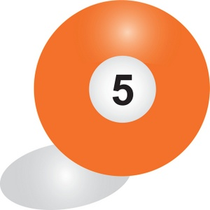 5 ball pool clipart image royalty free download Billiards Clipart Image - Solid orange 5 pool ball image royalty free download