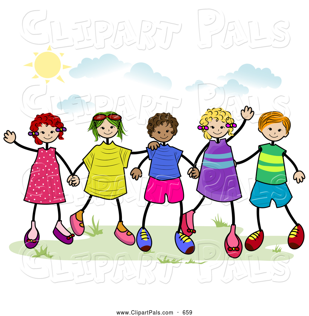 Group black teens playing together cartoon clipart banner black and white library Friendship Clipart Free | Free download best Friendship Clipart Free ... banner black and white library
