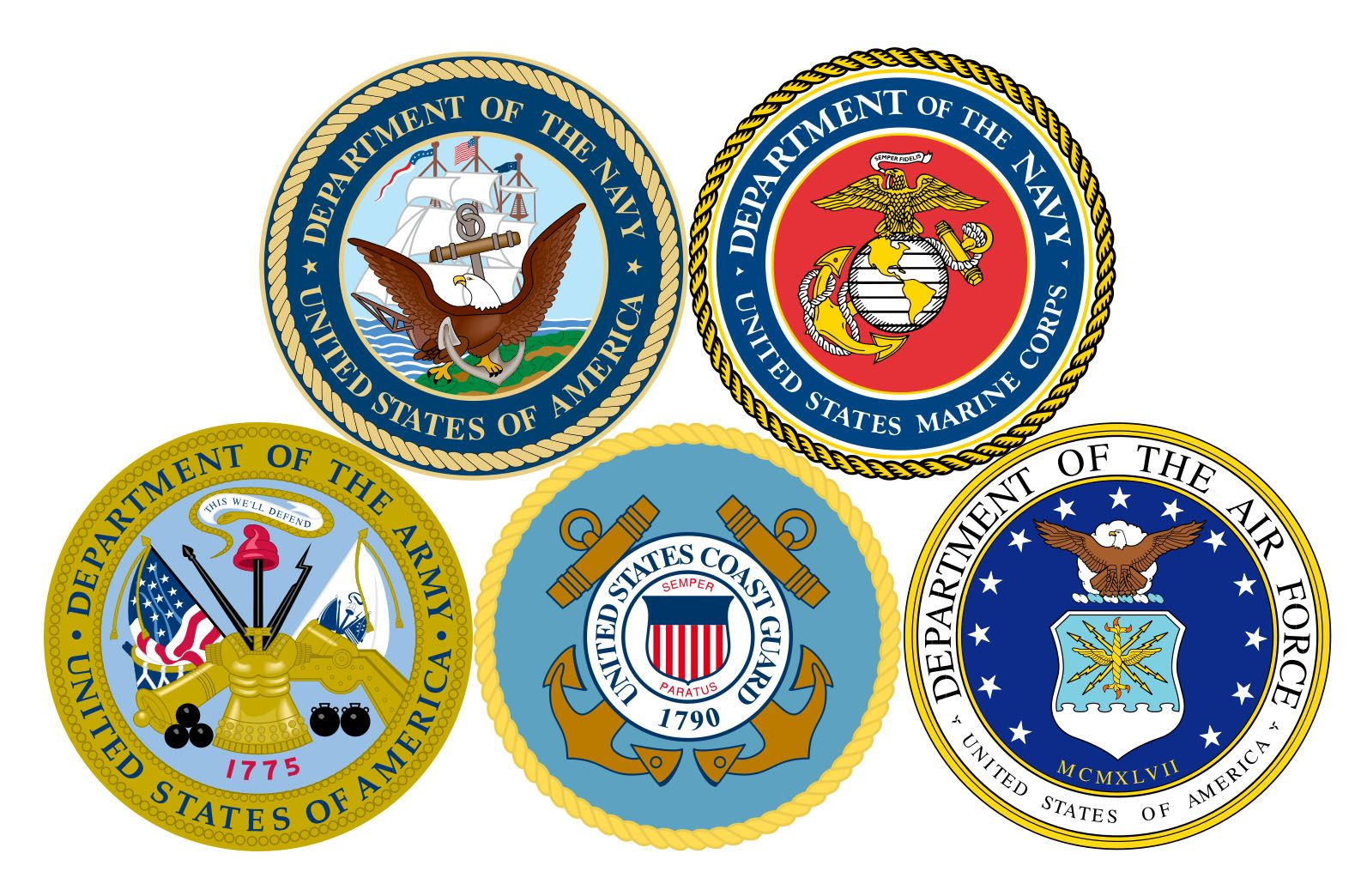 5 branches of military clipart image college logos clip art   Armed Forces: www.todaysmilitary.com ... image