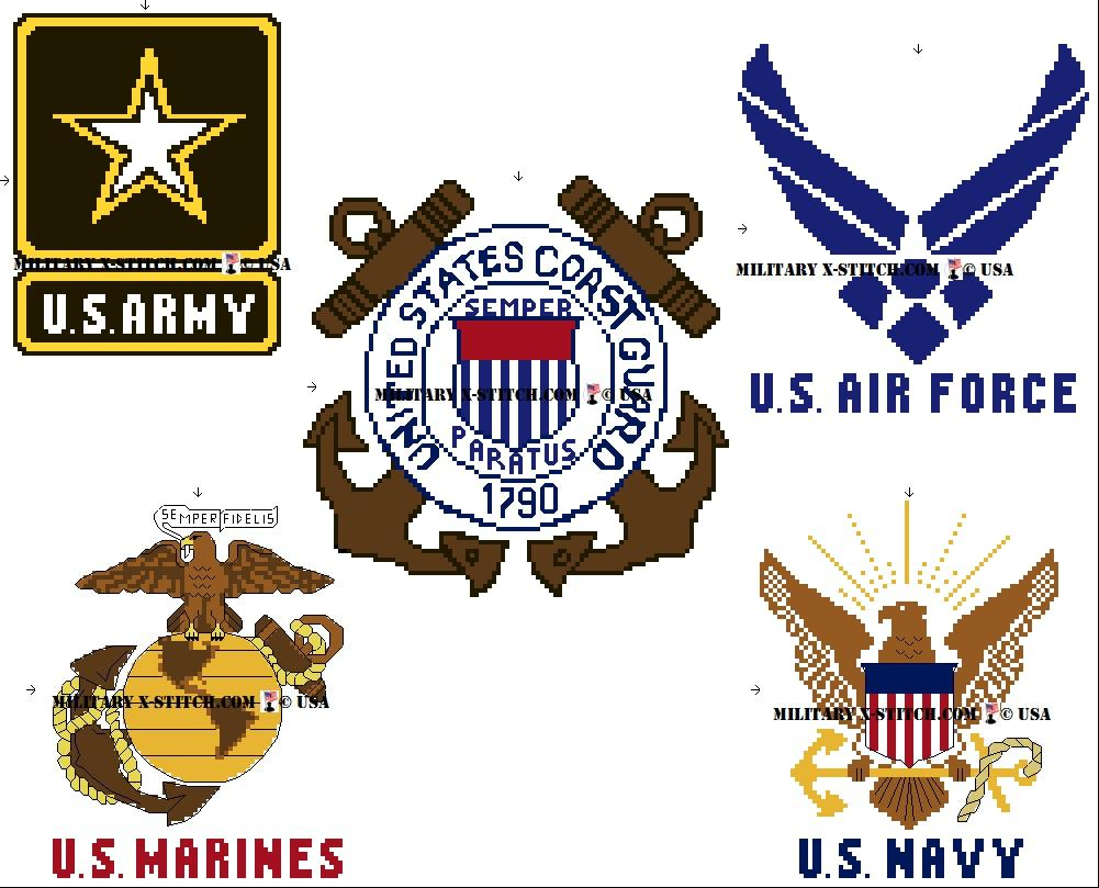 5 branches of military clipart clip free Five US Military Branches Logos PDF clip free