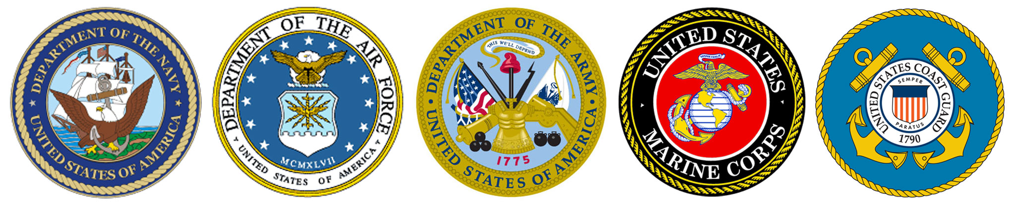 Armed forces seals clipart