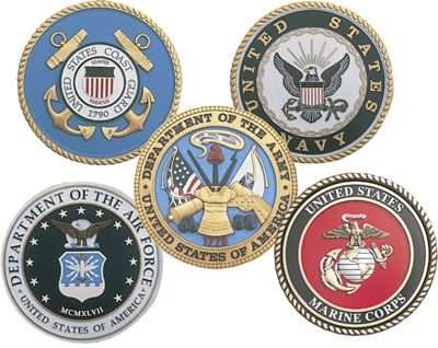 Clipart of the five branches of armed forces uniforms svg transparent Symbols of the Five American Military Services. Air Force, Army ... svg transparent