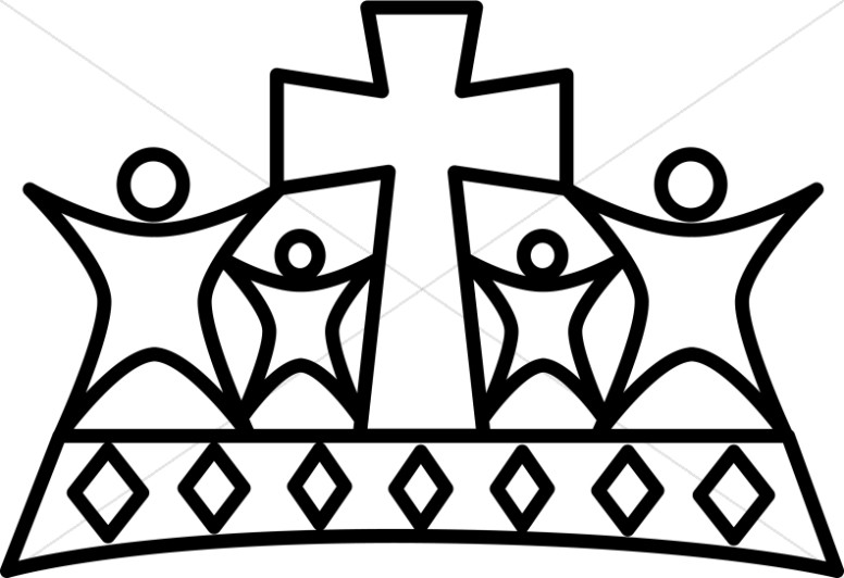 5 christian crowns clipart clip royalty free download Black and White People Crown | Crown Clipart clip royalty free download
