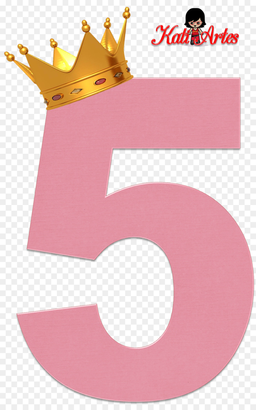 5 clipart pink clip art royalty free Crown Logo clipart - Crown, Number, Pink, transparent clip art clip art royalty free