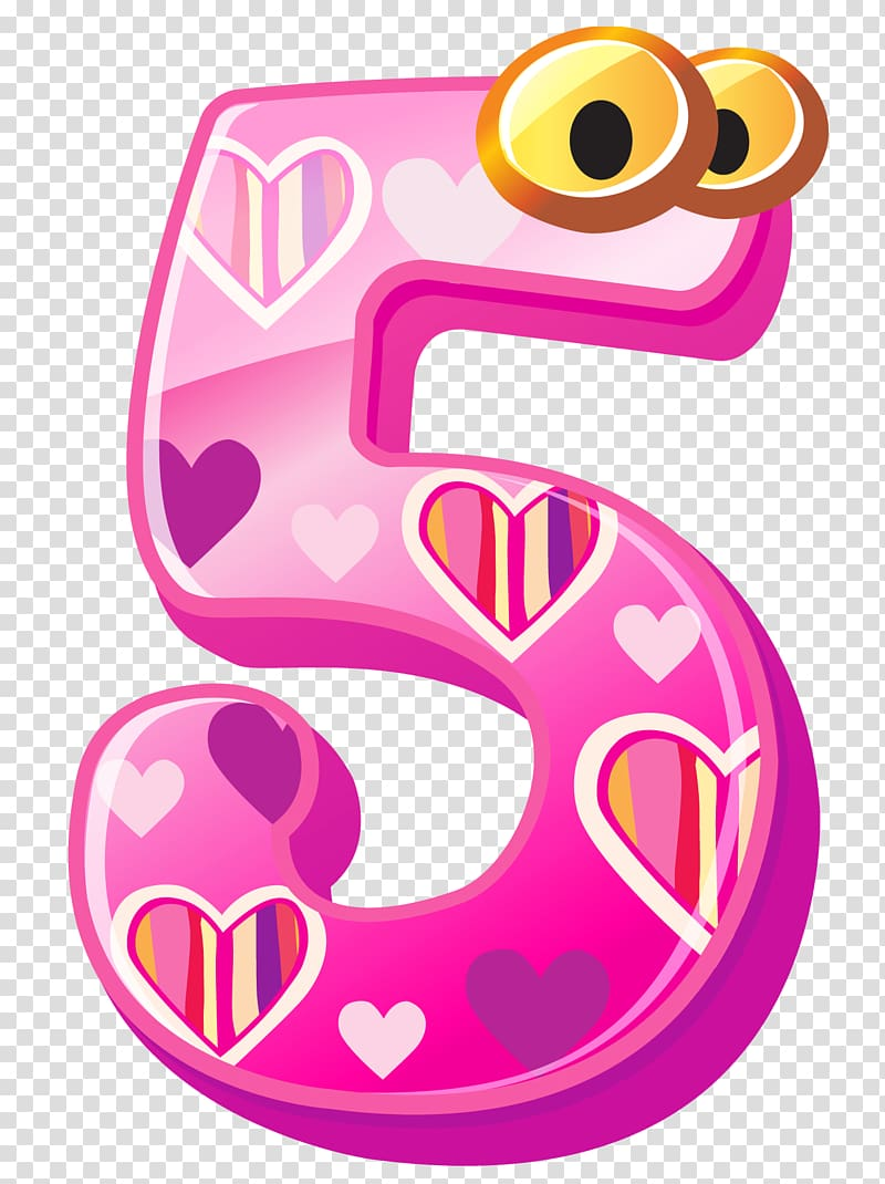 5 clipart pink jpg Number , Cute Number Five , pink and brown 5 illustration ... jpg