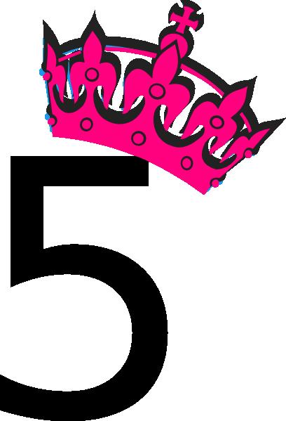 5 clipart pink svg royalty free download Pink Tilted Tiara And Number 5 Clip Art at Clker.com - vector clip ... svg royalty free download