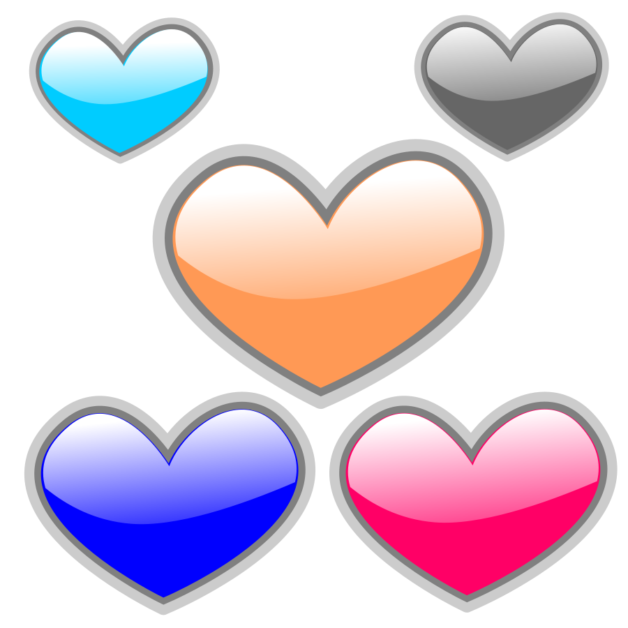 5 hearts clipart graphic royalty free download Gloss Heart 4 Clipart | Clipart Panda - Free Clipart Images graphic royalty free download