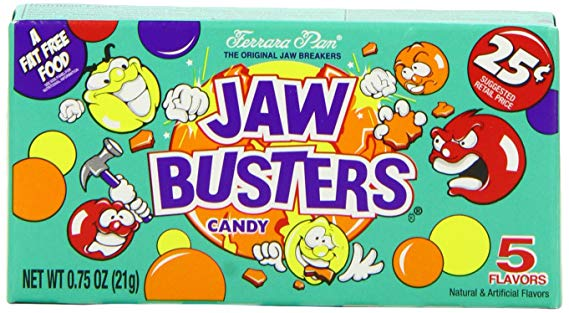 5 jaw breakers clipart