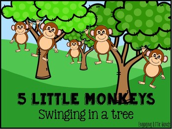 Monkeys swinging in the tree aligator clipart royalty free Five Little Monkeys Swinging On A Tree Worksheets & Teaching ... royalty free