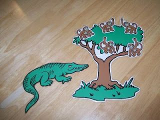 Monkeys swinging in the tree aligator clipart clipart freeuse download Magnetic story boards. Five little monkeys swinging in a tree ... clipart freeuse download