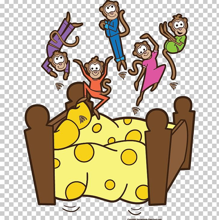 5 little monkeys clipart free png black and white download Five Little Monkeys Jumping On The Bed PNG, Clipart, Area, Art ... png black and white download