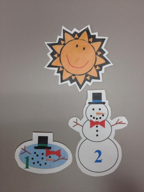 5 little snowman clipart