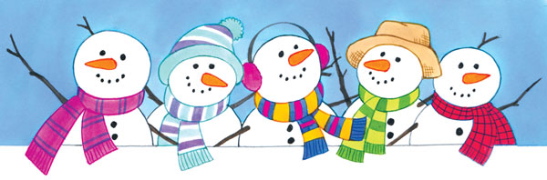 5 little snowman clipart vector freeuse stock five-clipart-snowman-13 - Holy Family School vector freeuse stock