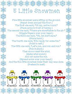5 little snowman clipart image black and white library Five Little Snowmen fingerplay   EC Activities   Preschool songs ... image black and white library