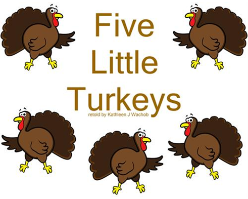 5 little turkey clipart png black and white 5 Little Turkeys png black and white