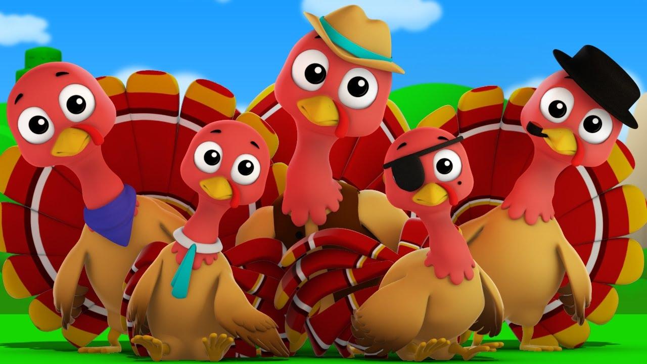5 little turkey clipart vector royalty free stock five little turkeys | turkey song | kids music | infant rhymes vector royalty free stock