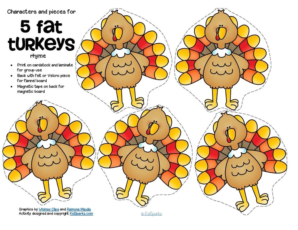 5 little turkey clipart clipart library FREE*** 5 Fat Turkeys counting rhyme - includes characters ... clipart library