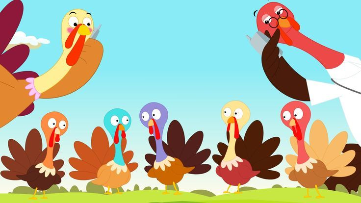 5 little turkey clipart royalty free library 5 little turkeys standing by the door, One waddled off, and then ... royalty free library