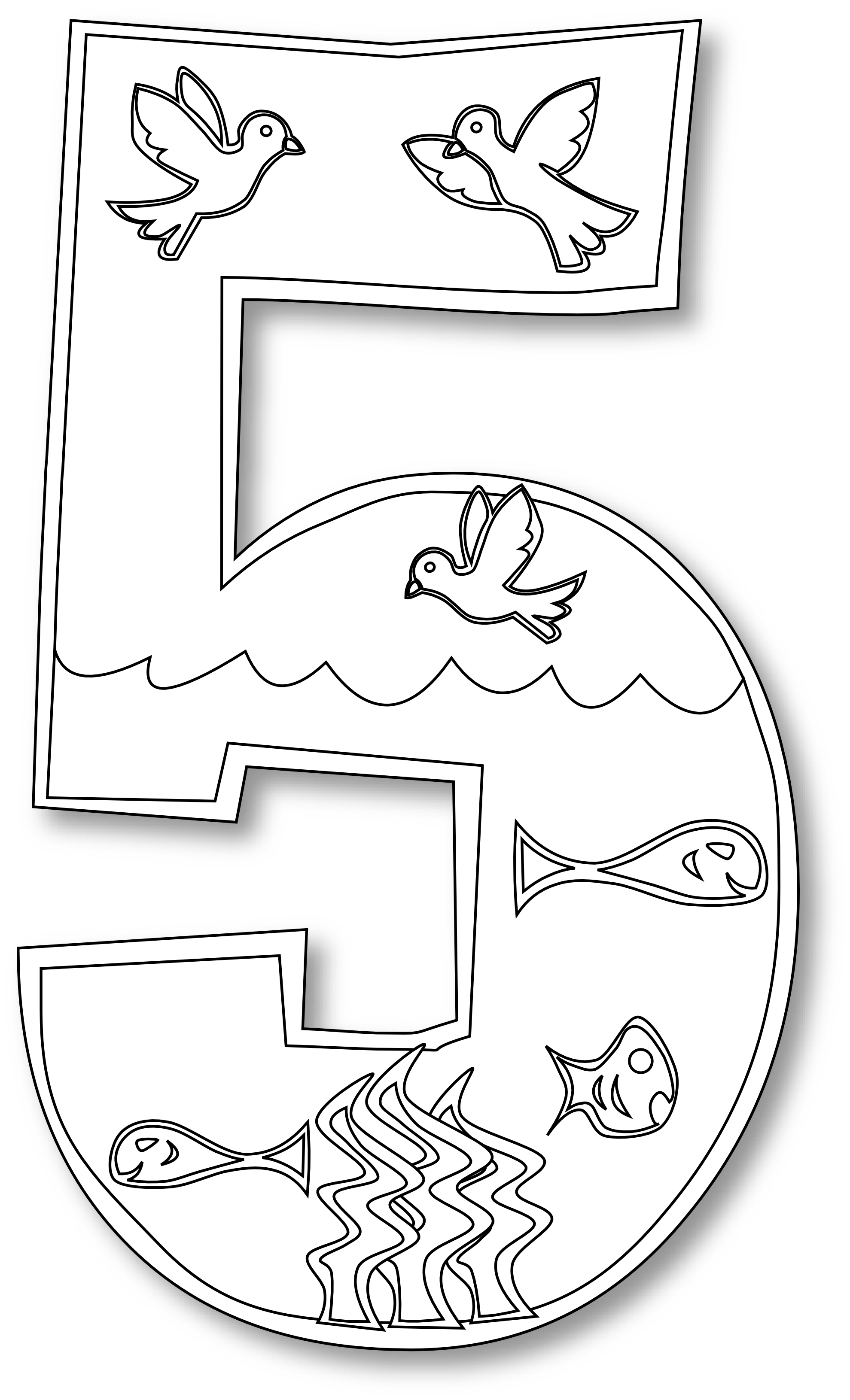 5 loaves and 2 fish clipart black and white image black and white library (1979×3261) | DIY for kids image black and white library