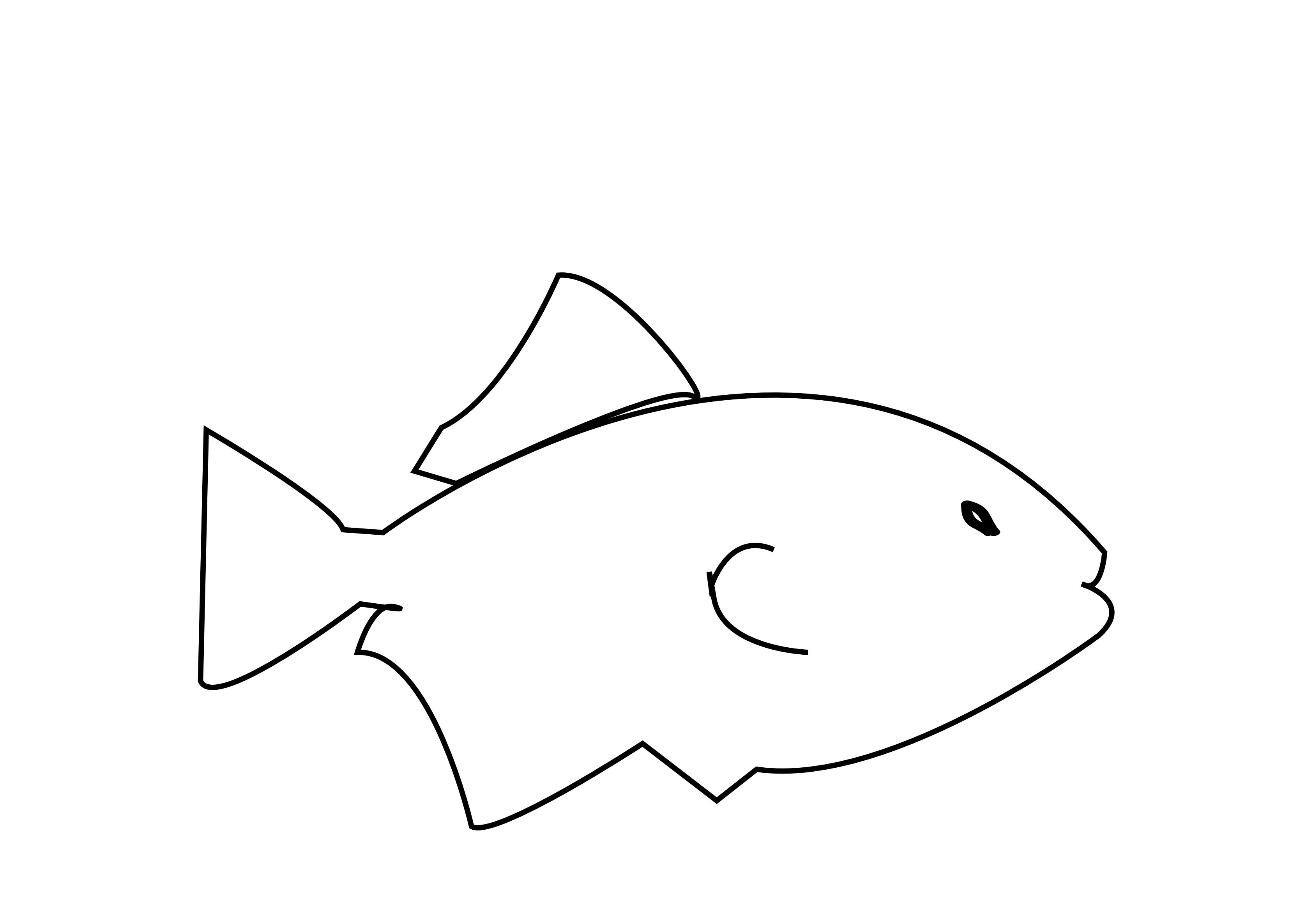 Fish clipart in black and white.  collection of high