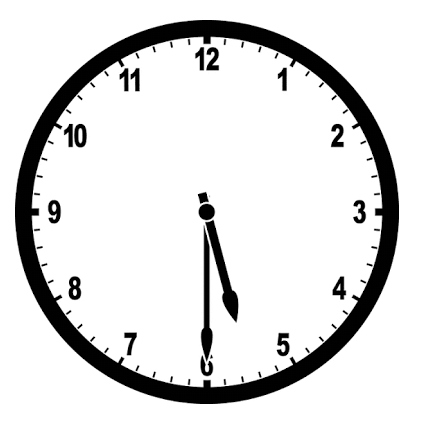 5 oclock clipart black and white clip Tell the time l1 l2 | Curiositi clip