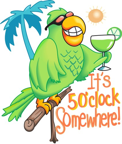 5 oclock somwhere clipart graphic free ITS FIVE O CLOCK SOMEWHERE - Print Art graphic free