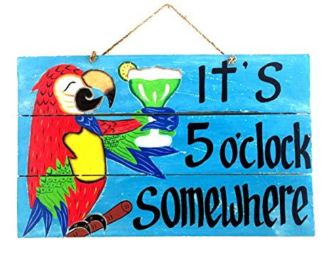 5 oclock somwhere clipart clip art free download Amazon.com: Its 5 O\'Clock Somewhere Wooden Sign Happy Hour Tiki Bar ... clip art free download