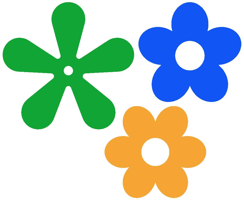 petal outline clip. Flower clipart 5 petals