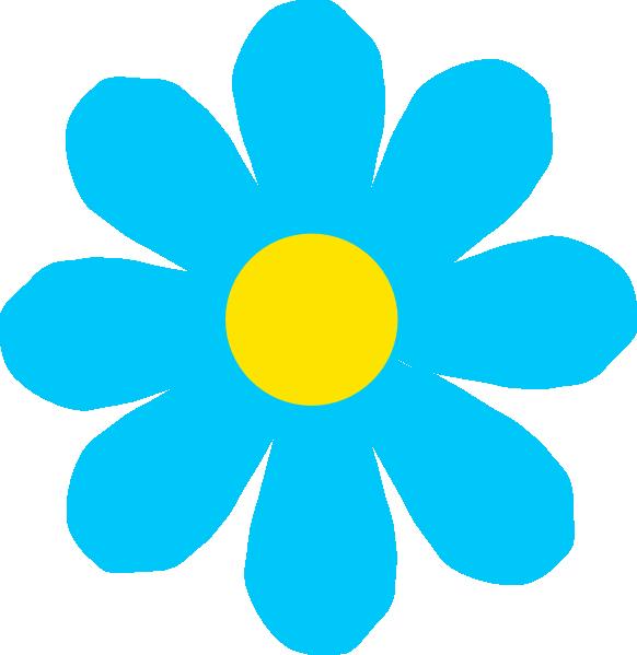 5 petal flower clipart image freeuse library Bright Blue Flower Clip Art at Clker.com - vector clip art online ... image freeuse library