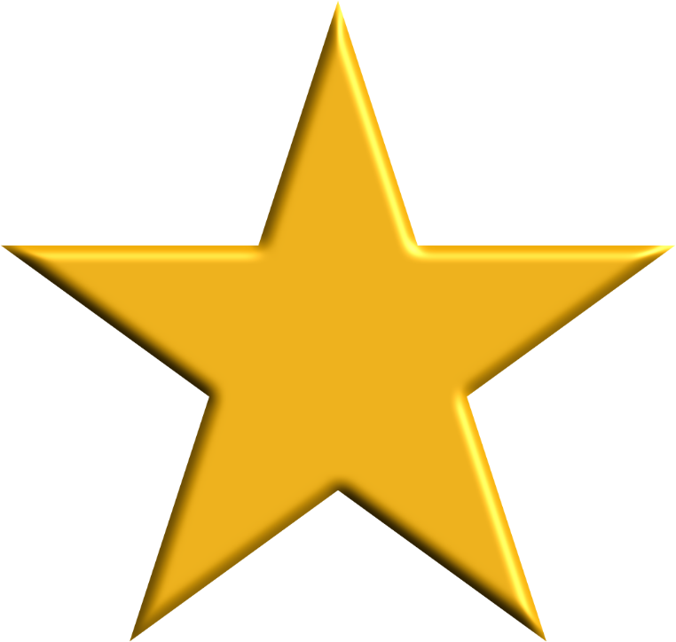 5 point star badge clipart banner freeuse Clipart - Gold Star banner freeuse