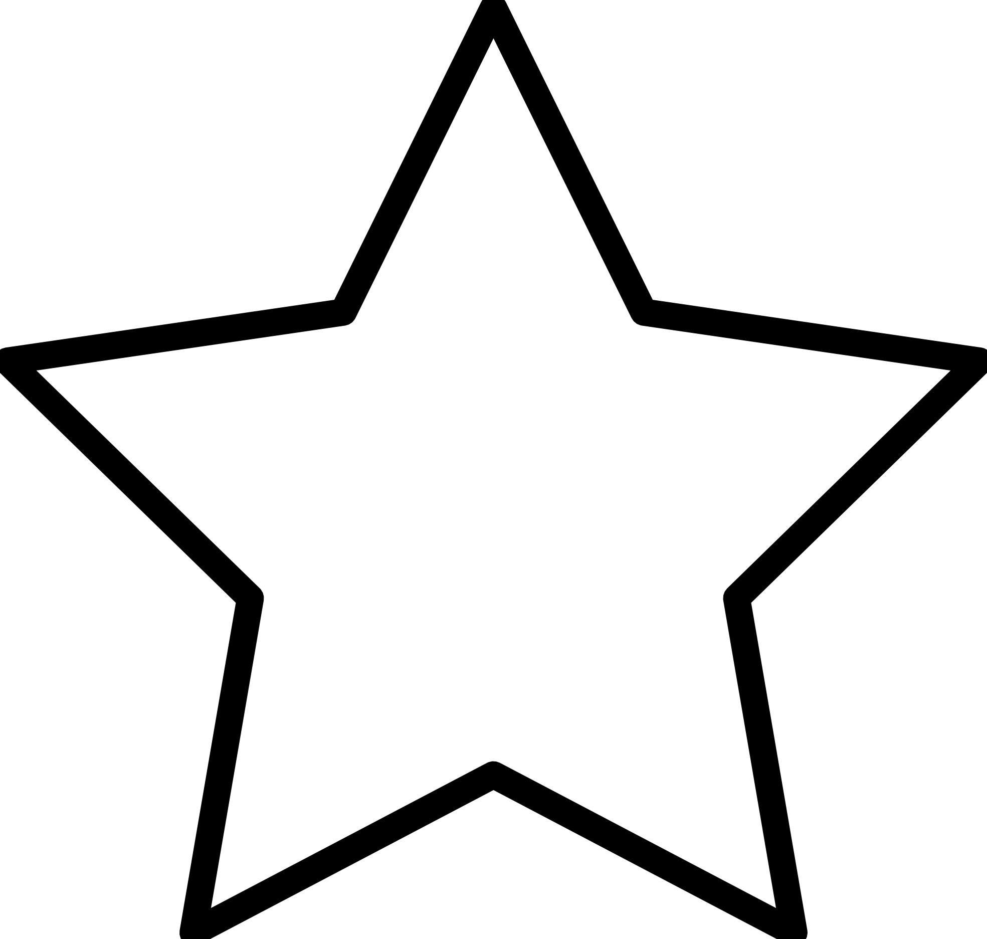 Star clipart black and white free graphic black and white library Star Clip Art Outline Black And White | Clipart Panda - Free Clipart ... graphic black and white library