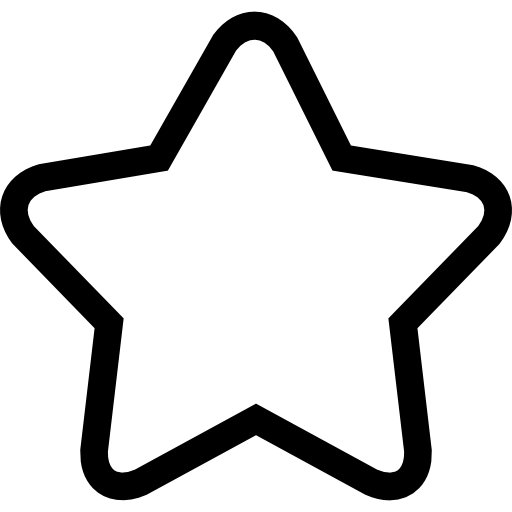 5 star clipart outline blank clip black and white Rounded Star Outline   Free download best Rounded Star Outline on ... clip black and white