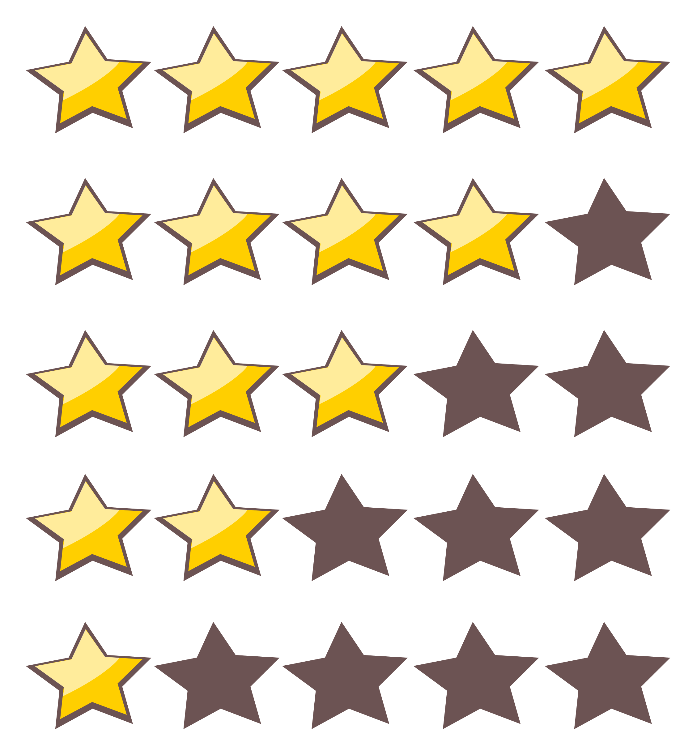 Clipart movie star banner freeuse download Clipart - 5-Star Rating System banner freeuse download